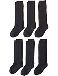 Jefferies Socks girls Big Seamless Cotton Knee High (Pack of 6)