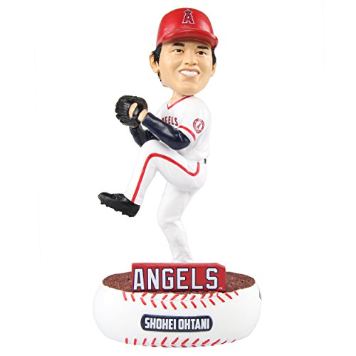 (FOCO MLB Los Angeles Angels Unisex Baller BOBBLEBALLER Bobble, Team Color, One Size)