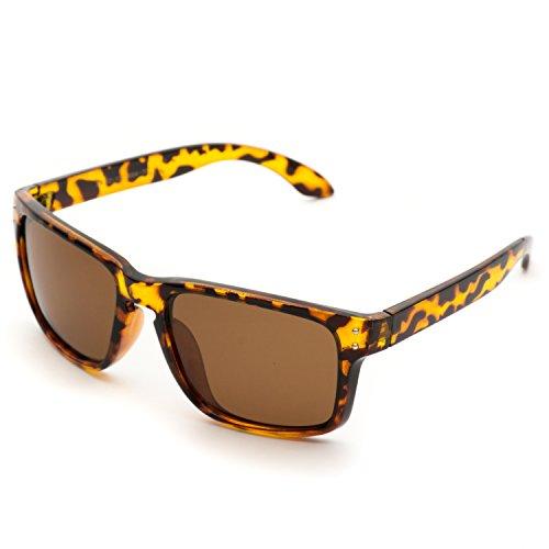 Wayfarer con nbsp;polarizadas clásico sol Marrón Pro prémium de lentes reflectantes Gafas nbsp;estilo WearMe PHxYAw8pqq