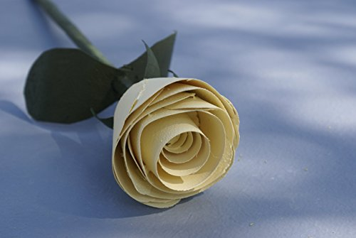 Yellow rose handmade of wood as romantic gift for birthday, anniversary, get well soon,or bridal shower