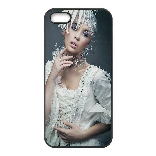 Bride Vintage Fashion coque iPhone 5 5S cellulaire cas coque de téléphone cas téléphone cellulaire noir couvercle EOKXLLNCD22419