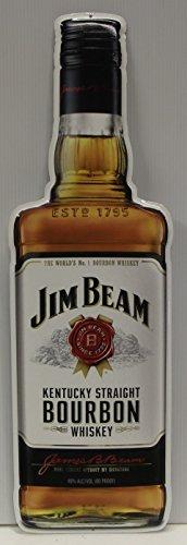 Jim Beam Whiskey Bottle Metal Sign Kentucky straight bourbon whiskey die cut (Jim Beam Bottle)