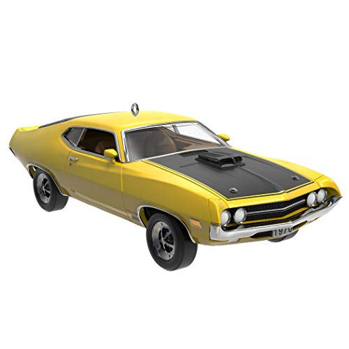 Hallmark Keepsake Christmas Ornament 2019 Year Dated Classic American Cars 1970 Ford Torino Cobra, Metal (Best American Cars 2019)