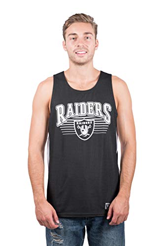 - NFL Oakland Raiders Men's Jersey Tank Top Sleeveless Mesh Tee Shirt, X-Large, Black