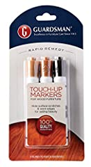 Guardsman Wood Touch-Up Markers allow you to quickly and easily conceal surface scratches and worn edges on furniture, cabinets, moldings, doors, floors, paneling, and any finished wood surfaces in your home. The 3-pack includes colors matche...