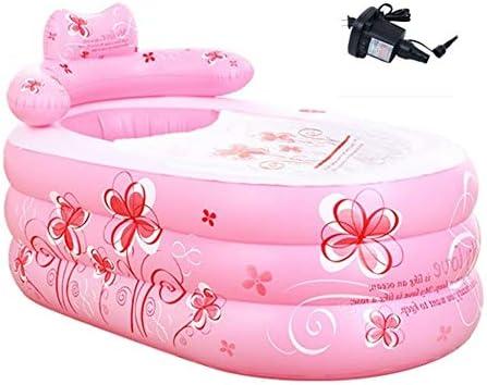 成人肥厚折りたたみ式インフレータブルバスタブ子供用家庭用プール多機能Medicated Bath,Pink-130*75*70cm