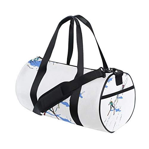 Gym Duffel Bag Cross-Country Skiing Training Duffle Bag BaLin Round Travel Sport Bags for Men -