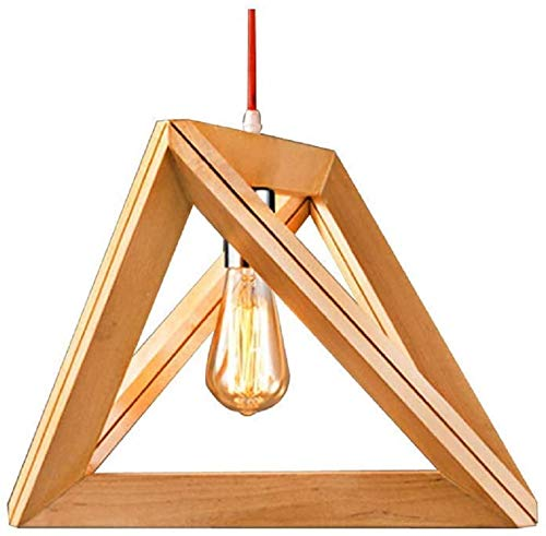EYLM lampara colgante colgante de madera colgante lampara de techo para mesa de comedor escritorio salon Bar Dormitorio