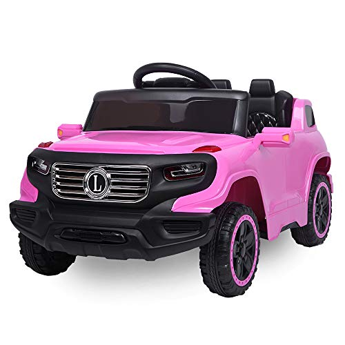 VALUE BOX Electric Remote Control Truck, Kids Toddler Ride On Cars 6V Battery Motorized Vehicles Children's Best Toy Car Safe with 3 Speeds, Music, seat Belts, LED Lights and Realistic - Car Electric