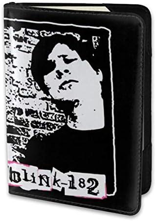 Blink-182 ブリンク 182 パスポートケース メンズ 男女兼用 パスポートカバー パスポート用カバー パスポートバッグ 小型 携帯便利 シンプル ポーチ 5.5インチ高級PUレザー 家族 国内海外旅行用品