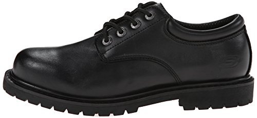 Skechers Mens Cottonwood Elks Slip Resistant Lace up Oxford Shoes Negro - negro