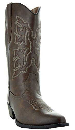 Country Love Pointed Toe Women's Cowboy Boots W101-1001 (8, (Ladies Cowboy Boots)
