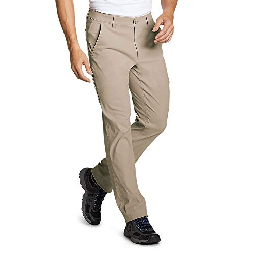 Eddie Bauer Men's Horizon Guide Chino Pants - Slim Fit, Lt Khaki Regular 36/30 (Eddie Bauer Pants)