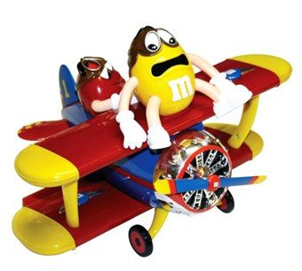 MMs Toy Airplane Chocolate Candy Dispenser Plastic
