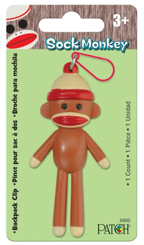 Patch Products Sock Monkey Backpack Clip