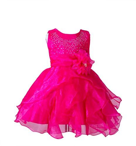 Floración Ruffle vestido Boda Baby ZAMME Rose Girl Cumpleaños Organza 1EgxX