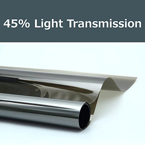 45% shade color 24 Inches by 10 Feet Window Tint Film Roll, for privacy and heat reduction PROTINT WINDOWS