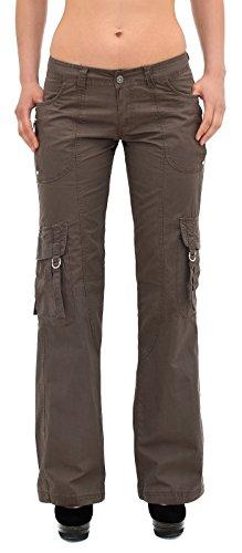 Pantalons en Z114 Femmes Baggy marron d't Femmes Pantalon Z114 Tissu Cargo Pantalon Femmes Pantalons zxqRtt