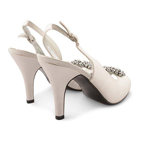 Footwear Sensation - Sandalias de vestir para mujer negro negro marfil