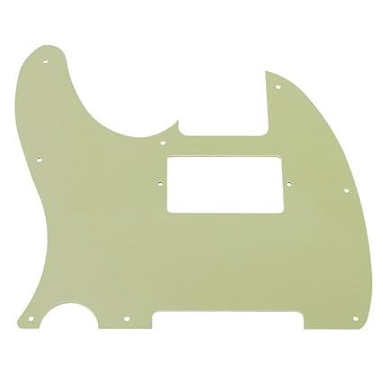 nelnissa 1pieza TL pastilla Humbucker doble bobina guitarra eléctrica placa de cero golpeador, color verde