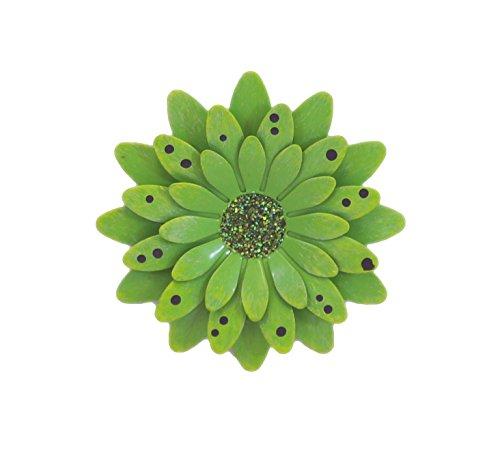 Lime Green Polkadot Gerbera Daisy Magnet - Set Of 3