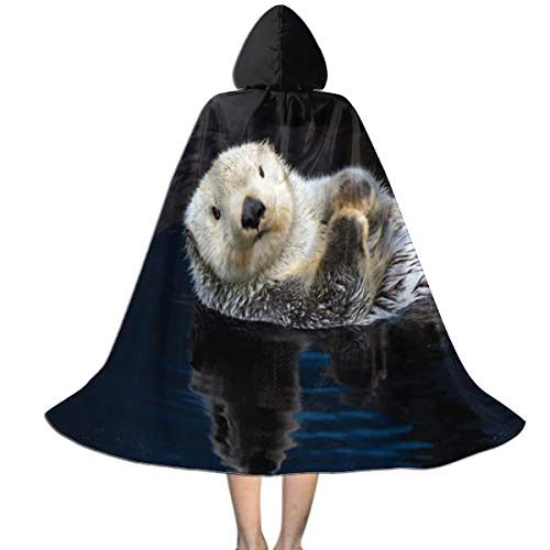 Sea Hag Halloween Costume (MFLLY Halloween Costumes Sea Otter Water Trendy Hooded Witch Wizard Cloak for Kids)