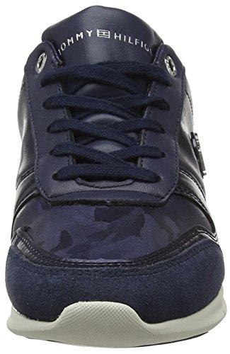 Light 406 Tommy Bleu Femme Basses Metallic Tommy Sneaker Hilfiger Navy Camo Sneakers PU4UWOnc
