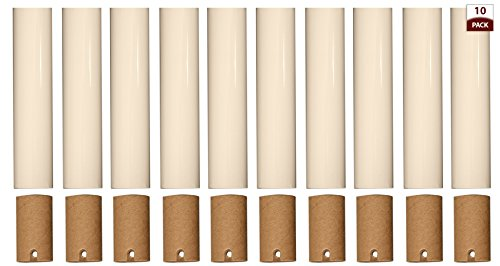 Royal Designs Chandelier Socket Covers, Paper Insulation, Cream, 4 in, Set of 10 (SCP-5001CR-10)