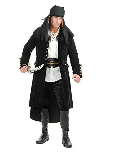 Charades Men's Treasure Island Pirate Jacket, Black, -