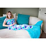 Fin Fun Mermaid Tail Blanket for Girls - Cuddle
