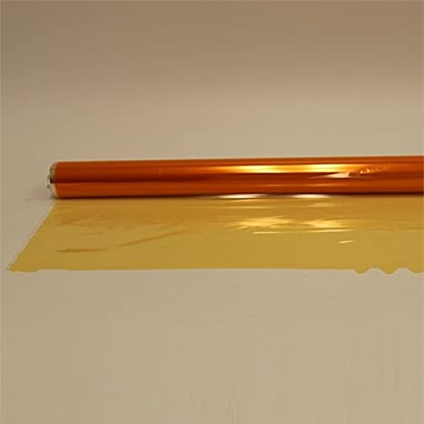 Yellow//Amber Oasis Supply 40 in x 100 ft Cello Wrap Cellophane Roll