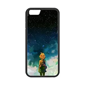 Calvin and Hobbes Starry Night iPhone 6 4.7 Inch Cell Phone Case Black Phone cover F7637269