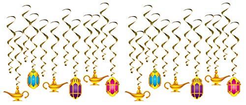 Beistle 53569 Lantern & Lamp Whirls, 24 Piece, 17.5