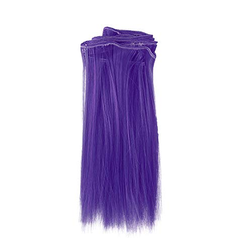 90 Wigs for Women, 1PC Fashion 15X106Cm Wholesale Straight Hair Hair for DIY/BJD Wig Doll (Purple) -