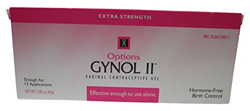 Options Gynol II Extra Strength Vaginal Contraceptive Jelly, 2.85 oz - 3 Count by Options