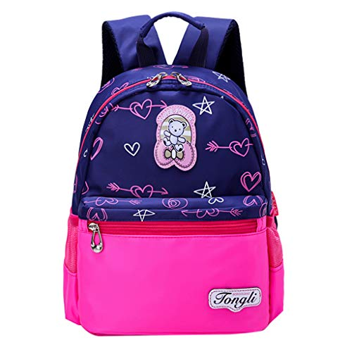 (Dainzuy Fashion Backpacks for Kids,Children's Cartoon Pattern Backpack Large Capacity Student Bag Boys Girls Daypack Hot Pink)