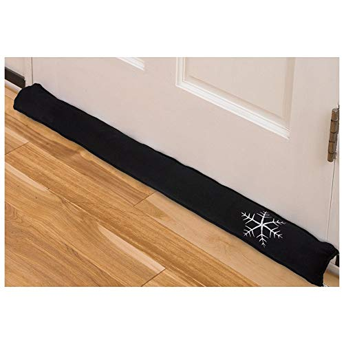 "Black Draft Stopper 36"" Interior Air Under Door Window Garage Fireplace Guard Blocker (Stock Fireplace Door)"