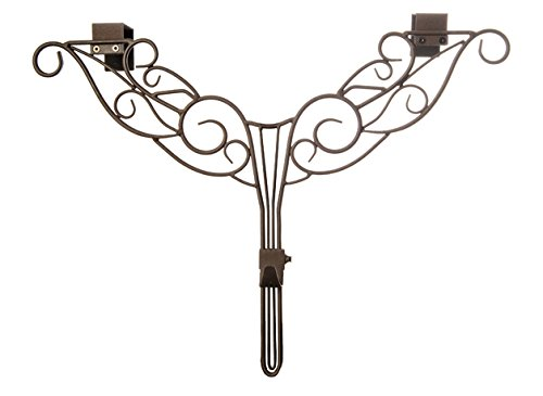 Lighting Hanger - [Front Door WREATH HANGER] - Antler Design | ADJUSTABLE Hook Length for Tall and Small Doors | PADDING to Prevent Damage like Scratch and Dents | Heavy Duty Cast Iron Metal Hangar (Brown)