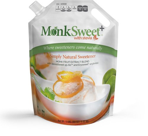 MonkSweet Plus - 5 lb bag - Monk Fruit, Stevia & Erythritol Blend NonGMO Low Carb Sweetener by Steviva (Image #2)