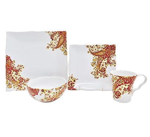 222 Fifth Surya Saffron 16 Piece Dinnerware Set