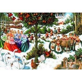 Twelve Days of Christmas Jigsaw Puzzle- Gorgeous 1000 Holiday Puzzle