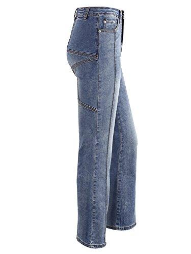 Simplee ropa mujer pantalones acampanados pantalones denim jeans skinny pantalones Azul