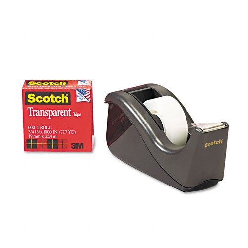 Scotch Transparent Glossy Finish Tape with C60 Desktop Dispenser, 3/4 x 1000 Inches, 12 Rolls, 1 Dispenser (600K-C60) Photo #3