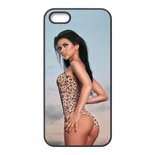 Inna 001 coque iPhone 5 5S cellulaire cas coque de téléphone cas téléphone cellulaire noir couvercle EOKXLLNCD24555