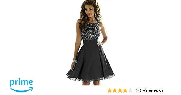 2fa3cb437 MEILISAY Meilishuo Women s Sparkly Beading Prom Dresses Short ...