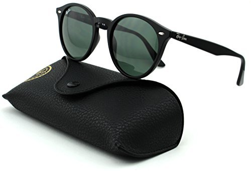 Ray-Ban RB2180 Unisex Round Sunglasses (Black Frame/Grey Green Lens 601/71, - Rb2180
