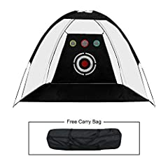 Golf Practice Driving Chipping Hitting Net System Aid Training Cage A Fantastic Training Aid for All Golfers. With this golf net,you can unlimited practice your golf skill and your favorite sport indoor or outdoor in your own home. Featuring ...