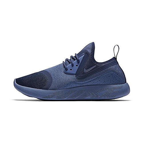 - Nike Men's Lunarcharge Essential Binary Blue/Moon Volt Ankle-High Fabric Running Shoe - 10M