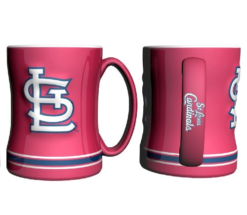 - MLB St. Louis Cardinals 14-ounce Sculpted Relief Mug Alternate Color, Red