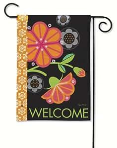 """Graphic Flowers Garden Flag - 12.5\"""" x 18\"""""""